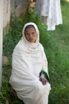Ethiopian woman waiting for fistula repair