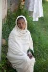 Ethiopian woman waiting for fistula repair